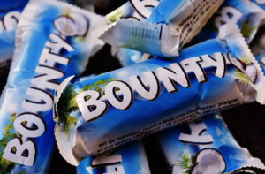 bounty candy bars made with coconut